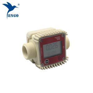 csúcsminőségű 10-120L / perc digitális üzemanyag-víz elektronikus turbinás áramlásmérő